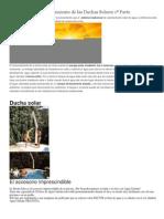 El principio de funcionamiento de las Duchas Solares 1ª Parte