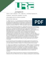 Jurisprudencia sobre concesión y distribución - Dillón SA - Ford Motor SA