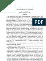 Vector Fields on Spheres