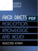 Dretske - Perception, Knowledge, And Belief
