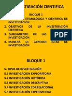 LA INVESTIGACIÓN CIENTIFICA CAP 1