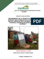 Mejoramiento de La Crianza de Gallinas de Postura Don 40 Familias en La Comunidad de Piscaya,...