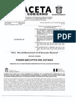 GACETA DEL GOBIERNO DEL ESTADO DE MÉXICO 06-dic-2012 - Jurisprudencias CE-1 y CE-2 Cuarta Época