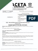GACETA DEL GOBIERNO DEL ESTADO DE MÉXICO 19-dic-2012 - Ref. art. 73 LFSEM y Expide Libro Sexto del Cod. Advo