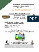 Dennis v Allen Summer Youth Lunch Event 8 23 13