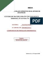 Planeacion Didactica de Paginas Web 2010