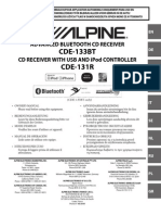 AutoRadio CDE-133BT  CDE-131R Alpine