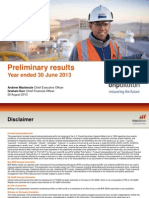 BHP Full Preliminary Results Presentation