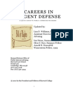 Careers in Indigent Defense