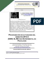 ModelodeProgramacionMetodoExperimentalenPsicologia