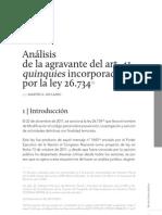 Agravantes art. 41 quinquies Código Penal Argentino.