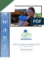 ZAWADI - Global Village Ministries October 2013 Journal