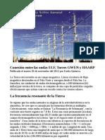 Conexión entre las ondas ELF, Torres GWEN y HAARP