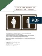 Aproximación a una mirada de género - La mujer en el Trabajo