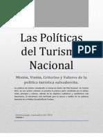 Las Políticas del Turismo Nacional