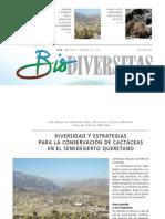 Diversidad y estrategias para la conservación de cactáceas en el Semidesierto Queretano