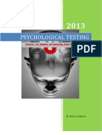 Reviewer for Psychological Testing