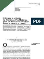 Boaventura de Sousa Santos - O Estado e o Direito Na Transicao Pos-Moderna (1)