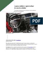 Aplicaciones Para Cuidar y Aprovechar Mejor Tu Auto Con Tu Celular