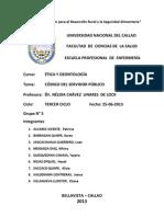 Resumen Codigo de Etica Del Servidor Publico en El Peru