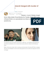 Pakistan's Musharraf Charged With Murder of Benazir Bhutto