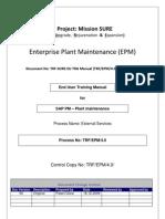 Sap Pm End User Manual External Services