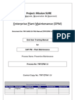 Sap Pm End User Manual Preventive Maintenance