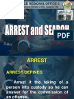 Lecture on Arrest