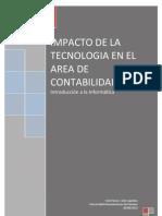 Impacto de La Tecnologia en El Area Contable