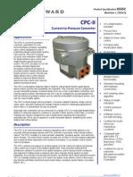Woodward CPC Convertidor de Corriente a Presion Especificaciones