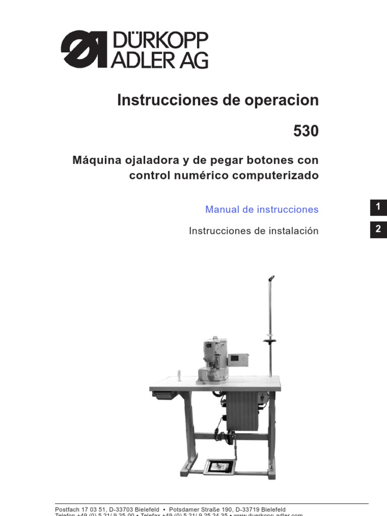 Manual Ojaladora y Botonera