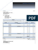Sample Invoice Statement