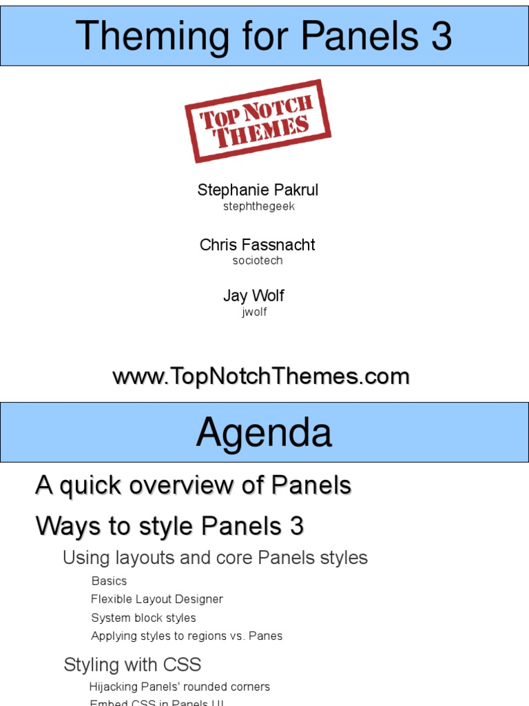 Styling & Theming Panels 3 for Drupal | Drupal | Cascading