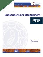 RDMA04 Subscriber Data Management Outlook Jun2009