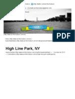 High Line Park, NY _ Archtechulture