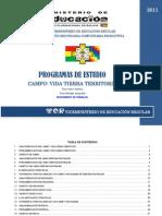 EDUCACIÓN SECUNDARIA COMUNITARIA PRODUCTIVA CAMPO VIDA TIERRA TERRITO