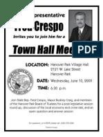 Town Hall Meeting with Rep Crespo and Mayor Craig