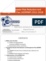 National Disaster Risk Reduction and Management Plan (NDRRMP) 2011-2018 by BERNARDO RAFAELITO R. ALEJANDRO IV