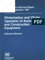 Winterzation and Winter Operation of Automotive and Construction Equipment