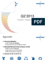 InnoTek Q2 2013 Analyst Meeting