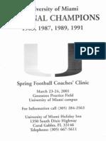 2001 Univ. of Miami Clinic