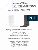 2001 Univ. of Miami Clinic