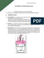 Informe - Calorimetria - Absorcion de Calor
