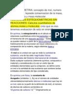 Investigacion Quimica 2012 - Estequiometria