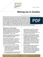 Policy Brief Mining Tax in Zambia