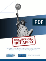 Muslims Need Not Apply - Aclu Socal Report