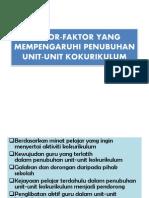 Faktor-faktor Yang Mempengaruhi Penubuhan Unit-unit Kokurikulum