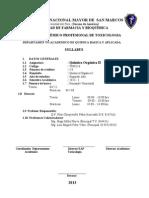 Syllabus Quimica Organica II 2013-i