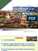 MINERÍA ARTESANAL-CPMSA-SNM