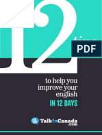 TalktoCanada 12 Tips Improve English